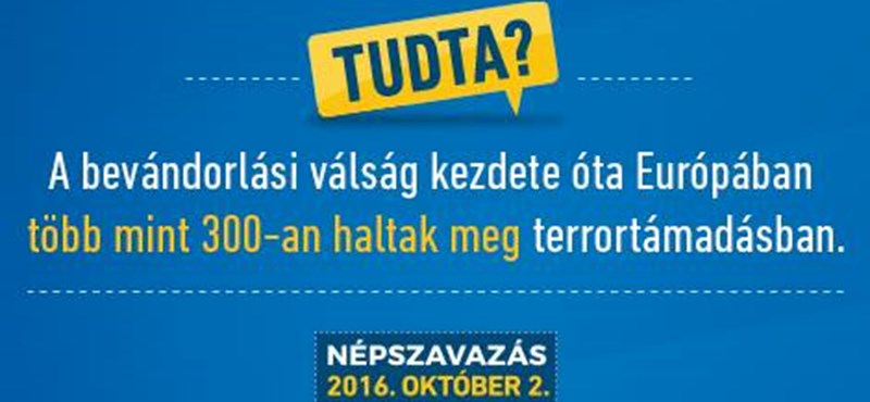 Bedobják a terrortámadás-kártyát a kormány plakátkampányában – fotó