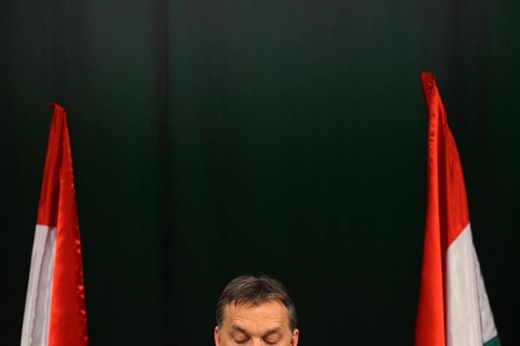 Orbán Viktor megtartotta szokásos évértékelő beszédét a Millenárison, Budapesten.
