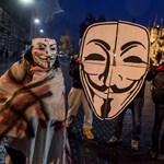 Felvonult az Anonymous Budapesten - fotók