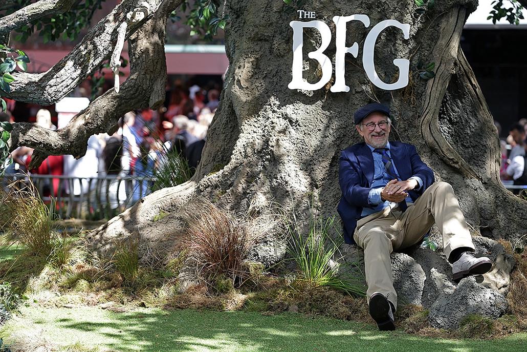 AFP -   Steven Spielberg  A barátságos óriás c. film Angliai premierjén,
