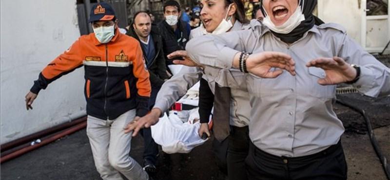 Isztambuli kórháztűz: nincsenek halottak, nem működött a vészjelző rendszer