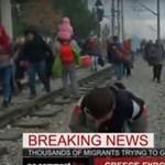 Áttörtek a menekültek a macedón–görög határon