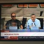 És akkor Orbán megjelent a HírTV-ben – fotó