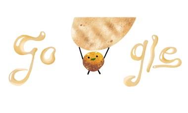 Miért vannak mosolygó gombócok a Google főoldalán? Ünnepeljük a falafelt!