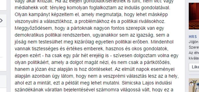 Török Gábor nem indul a veszprémi választáson