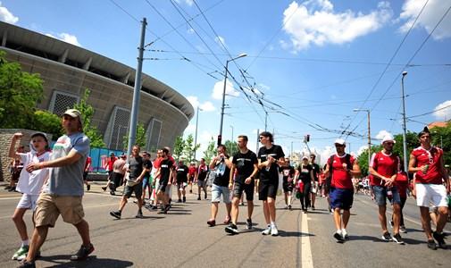 Elérte a szurkolói menet a Puskás Stadiont – a labdarúgó Eb kilencedik napja percről percre