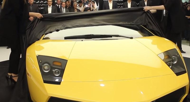 Iránban az utolsó csavarig lemásoltak egy Lamborghini sportautót - videó
