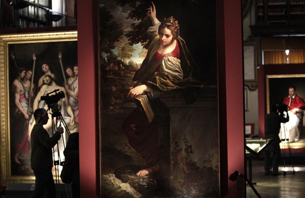 Olaszország - a ''Caravaggio in Rome'' című kiállítás Rómában - az olasz Állami Levéltár tavaszi kiállítása.