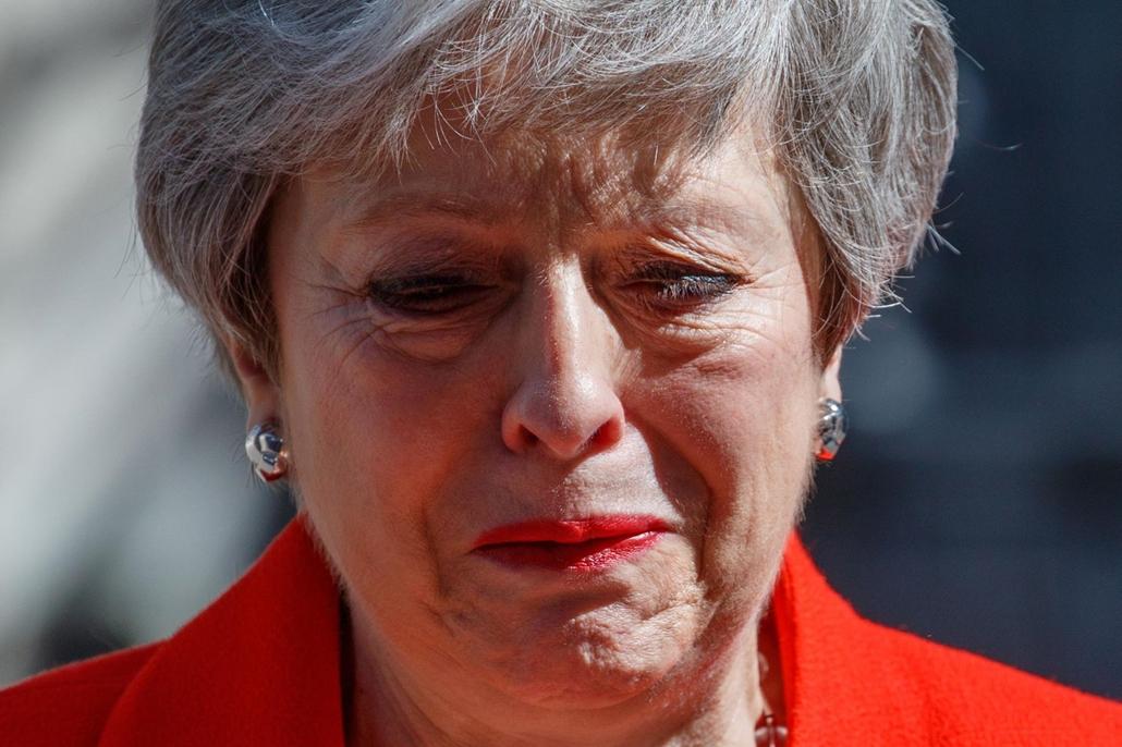 nagyítás afp.19.05.24. Theresa May, lemondása