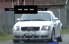 50 helyett, közel 140-nel suhant át egy Audi TT Hajdúsámsonon