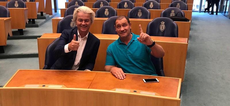 Geert Wilders beültette Bunyós Pityut a holland parlamentbe – fotók