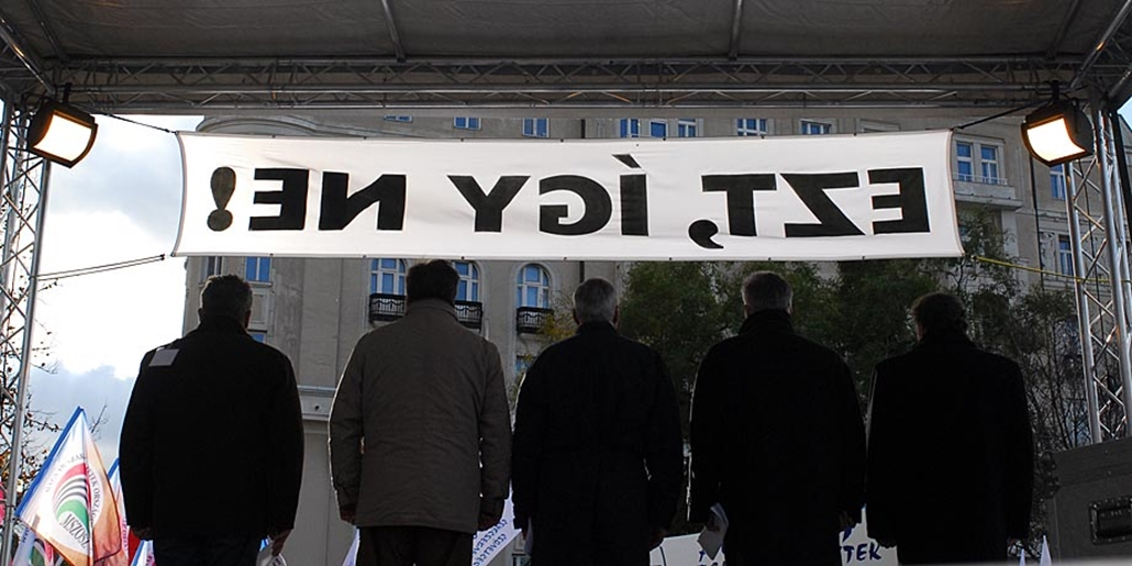 Sztrájkok,tüntetések az elmúlt években- 2007 Autonom szakszervezetek tüntetése