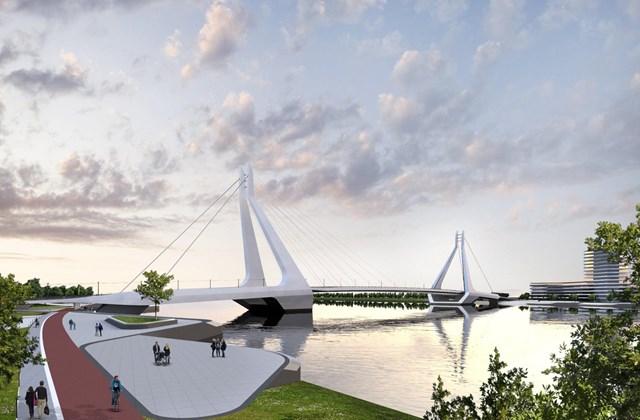 Galvani híd terv UNStudió és a Buro Happold Engineering
