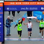 A nap képe: egy kimentett chilei bányász a New York Maraton finisében