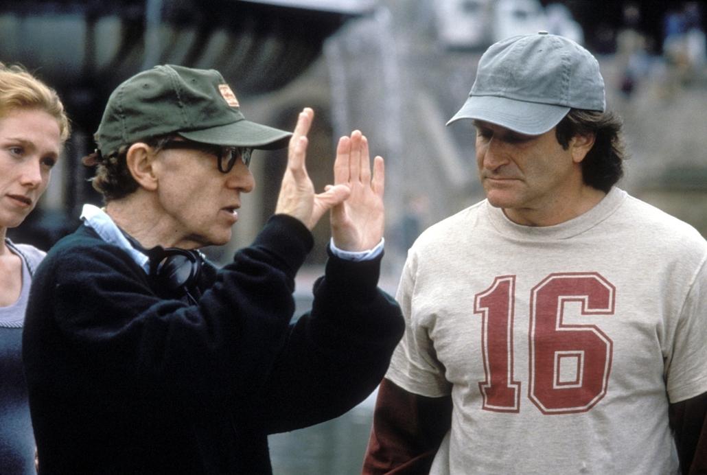 afp.1997. - Woody Allen és Robin Williams az Agyament Harry (1997) című film egyik jelenetében - nagyítás