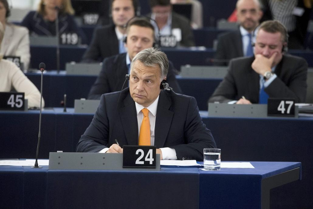 mti.15.05.19. - Strasbourg, Franciaország: Orbán Viktor az Európai Parlament (EP) Magyarországról szóló plenáris vitáján
