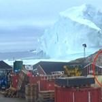 Videóra vették a hatalmas jéghegyet, amelytől most egy egész falu retteg Grönlandon