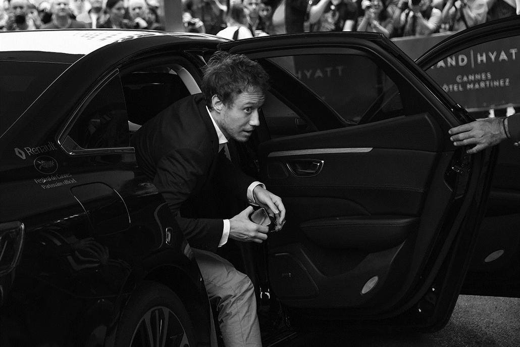 afp.16.05.21. -Nemes László filmrendező , zsüritag- Cannes-i Filmfesztivál feketén-fehéren, Nagyítás